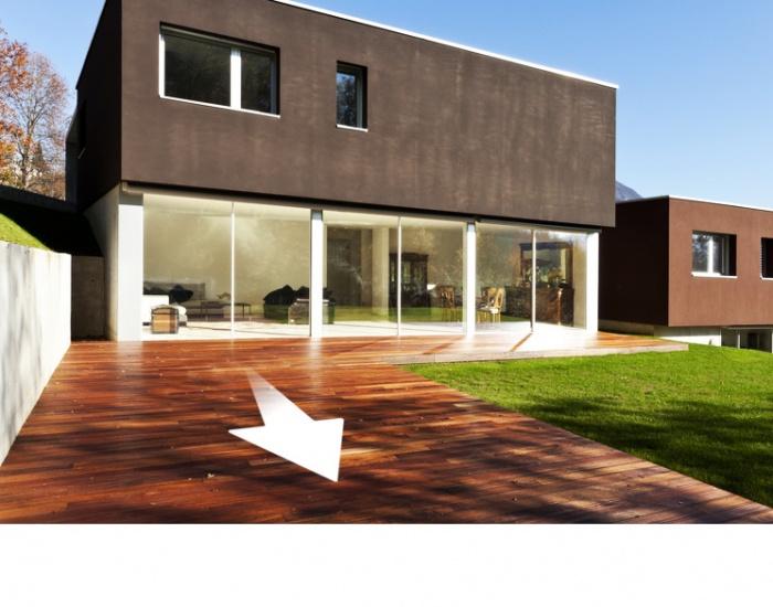 Terrasse en bois sens de pose