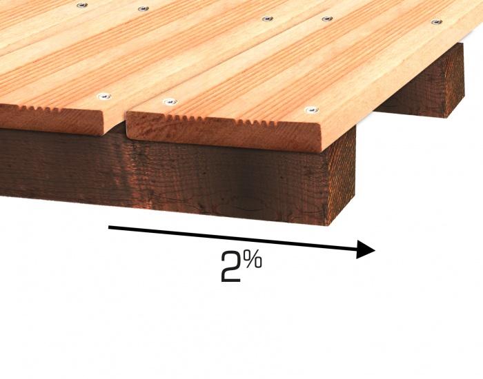 Pente terrasse en bois