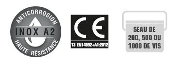 Vis inox A2 anticorrosion norme CE
