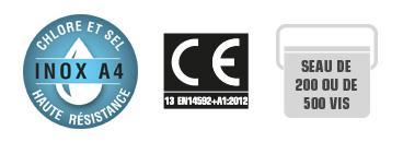 Vis inox A4 anticorrosion norme CE